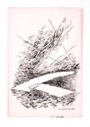 Josef Šíma, Kompozice lept / etching, 1967