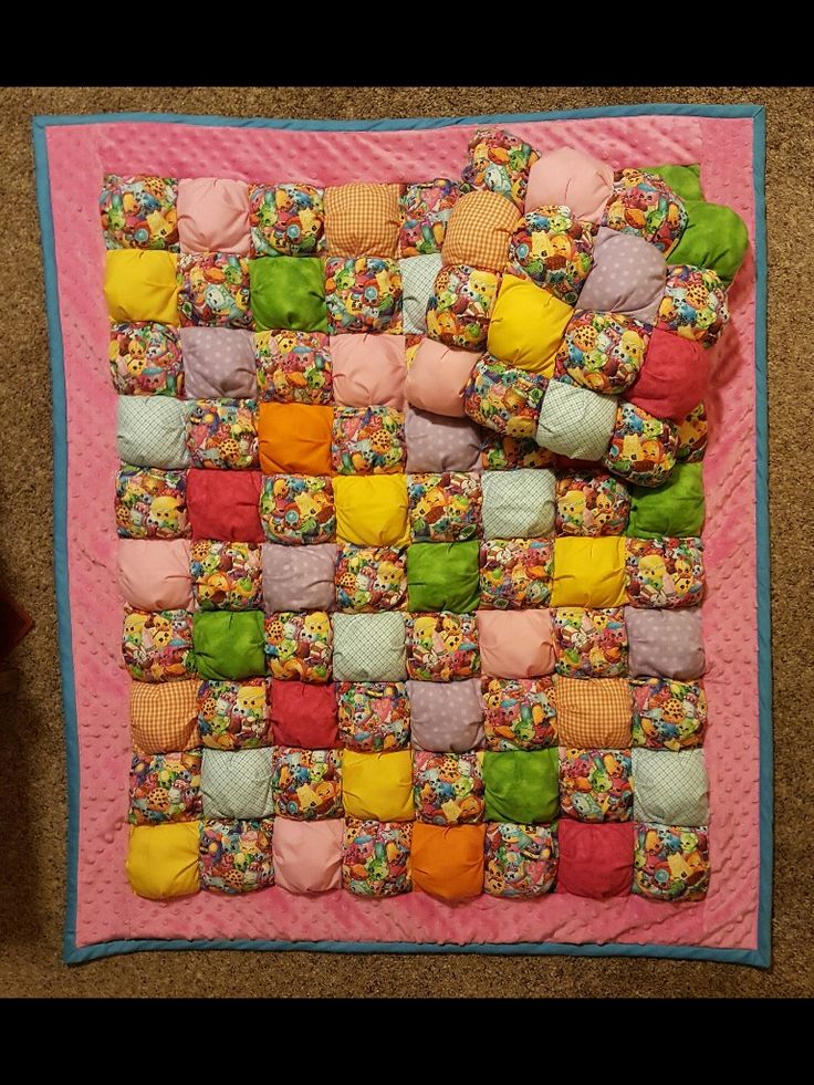 Shopkins Bubble Puff Quilt & Pillow For Sale On eBay