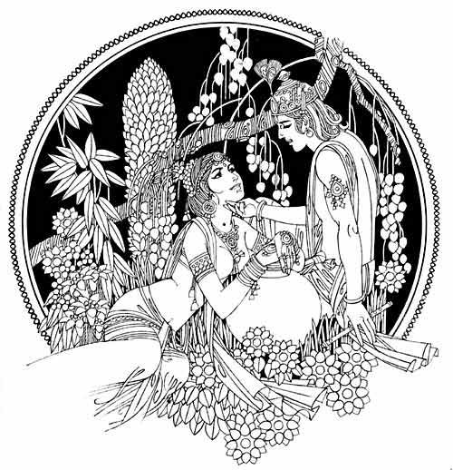 Radha Krishna  Art by Ravi paranjape
