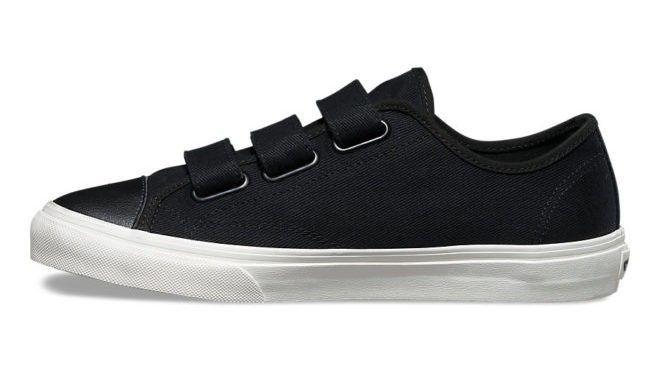 Vans Prison Issue Skate Shoes - (Twill)Black/Blanc de Blanc