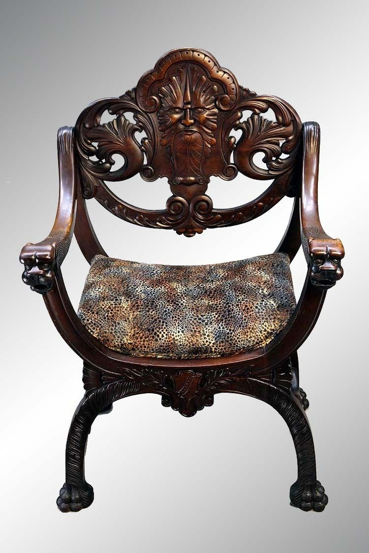 Antique Carved Mahogany Arm Chair with Lions. 24 best Stomps Burkhardt Chairs images on Pinterest