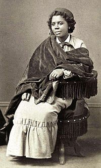 Edmonia Lewis (ca. July 4, 1844–September 17, 1907) was an African/Native American sculptor (African, Ojibwe and Haitian) who worked for most of her career in Rome. Her heritage is African-American and Native American and she gained fame and recognition as a sculptor in the international fine arts world.