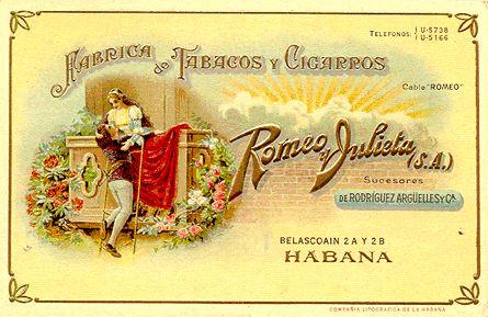 romeo y julieta cigars | Romeo y Julieta Romeo y Julieta Vintage Cigar Label Prints - Framed
