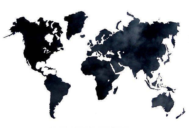 Silk-Screened Map
