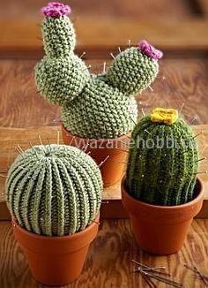 Вязаные кактусы спицами