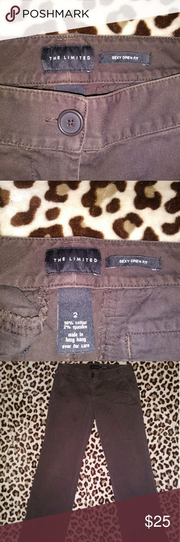 Dark Brown The Limited Sexy Drew Fit Dress Pants EUC Caesar from The Limited, they are the sexy Drew fit, the bottoms are pretty much bootcut any questions feel free to ask The Limited Pants Trousers