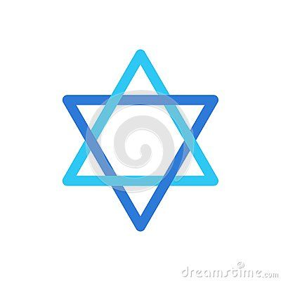 Star of David Israel symbol isolated on white background wallpaper, David`s star Jewish sign flag logo concept, star sticker icon vector illustration Israel star label blue color. Jewish Holiday Israeli star sign, card.