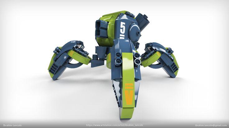 ArtStation - Lego Mecha - Toy version, Ibrahim Lancoln