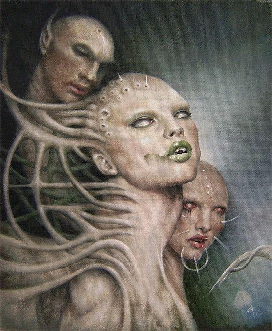 Horror Art by David A Magitis http://www.cruzine.com/2013/04/17/horror-art-david-magitis/