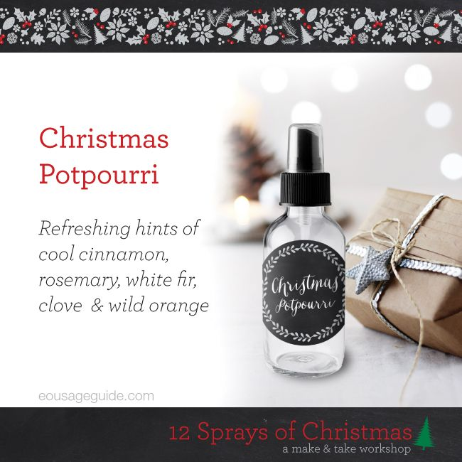 Christmas Potpourri Essential Oil Room Spray From The Quot 12