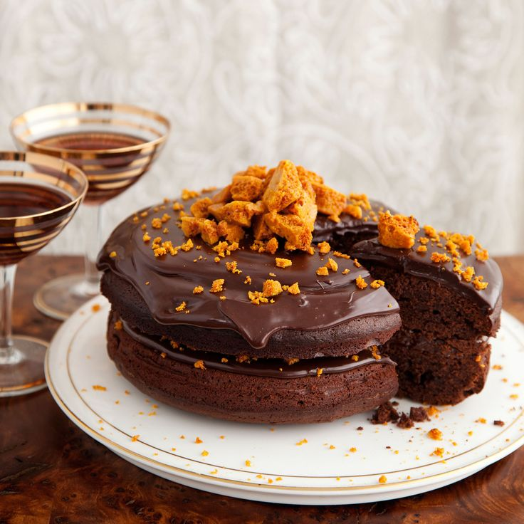 This striking cake, crowned with honeycomb and glossy ganache, is the perfect centrepiece for any celebration
