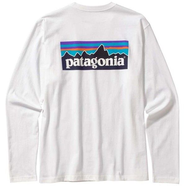 Men's Long-Sleeved Patagonia P-label T-shirt ($45) ❤ liked on Polyvore featuring men's fashion, men's clothing, men's shirts, men's t-shirts, tops, shirts, t-shirts, patagonia, t shirts and mens long sleeve t shirts