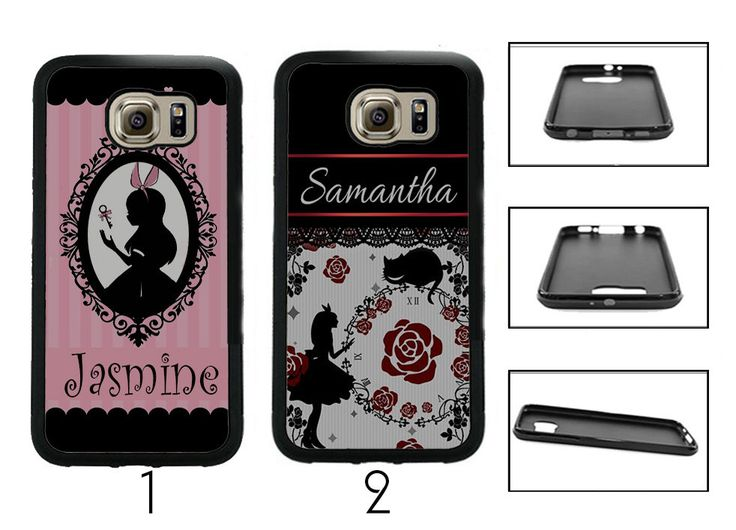 Personalized Alice in Wonderland custom name Fitted Case for Samsung Galaxy Phones by BeyouteePie on Etsy