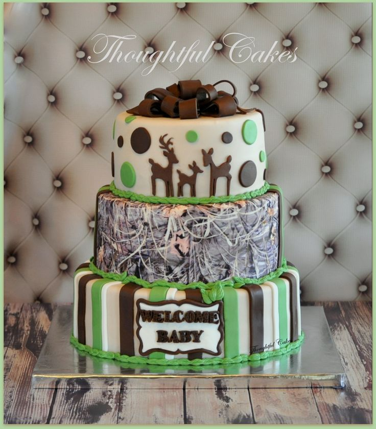 """*MELISSA--again, I don't like camo.  What I like of this cake is the circle spots, but like the """"30"""" cake better.  And I love the family of deer."""