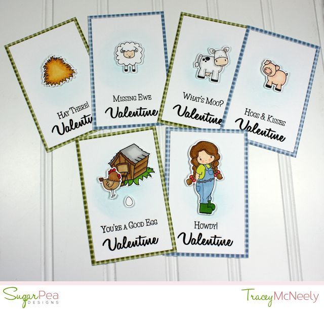 SugarPea Designs Valentine cards by Tracey McNeely