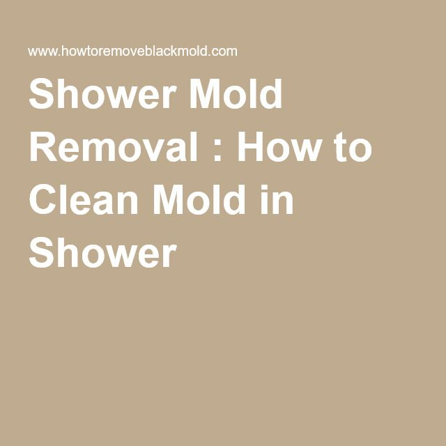 Shower Mold Removal : How to Clean Mold in Shower
