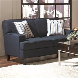 Finley Contemporary Blue Love Seat with Transitional Elements by Coaster at Weathers Furniture