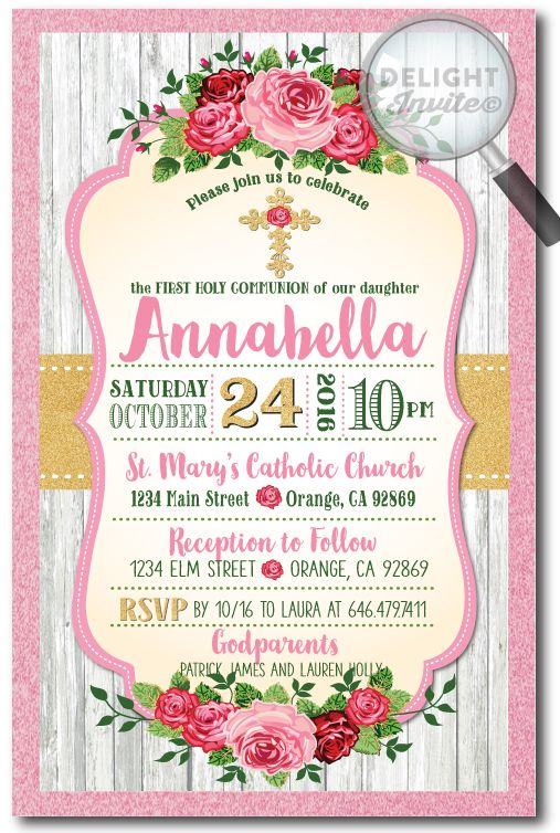 Best 25 First communion invitations ideas – First Communion Invitation Cards