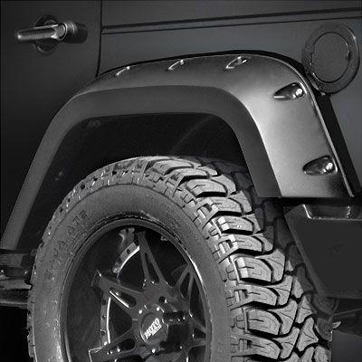 Bushwacker Body Gear Rear Pocket Style Fender Flares in Smooth Paintable Finish for 07-16 Jeep Wrangler JK 4-Door