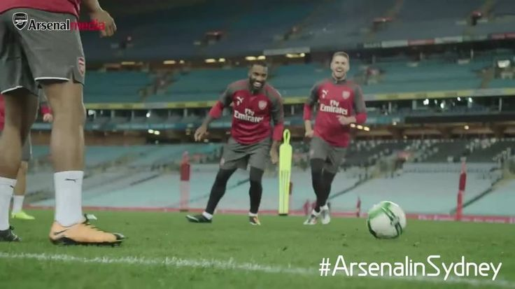"Arsenal Official on Instagram: ""Welcome to #Arsenal! 😝  #Lacazette #Rambo #ArsenalInSydney"""