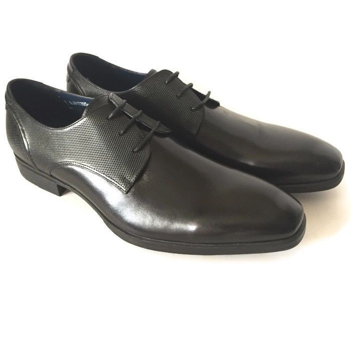 Steve Madden JAMES Mens Black Leather Oxfords Square Toe Dress Shoes SIZE 9 | eBay