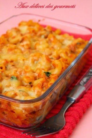 Aux délices des gourmets: PÂTES AU THON GRATINÉES A LA TOMATE