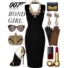 DO YOU LIKE BOND GIRL? by ironono on Polyvore featuring mode, Hervé Léger, Jimmy Choo, Alexander McQueen, Federica Rettore, Miriam Haskell, John Lewis, Karen Walker, Christian Dior and NARS Cosmetics