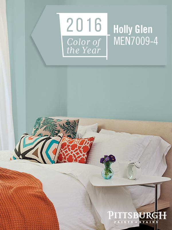 the pittsburgh paints stains 2016 paint color of the year is holly glen a soft green. Black Bedroom Furniture Sets. Home Design Ideas