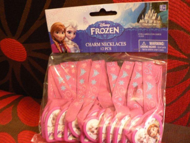 Disney Frozen Birthday Party Charm Necklaces 12 Count Princess Supplies Favors #DesignWare #BirthdayChild