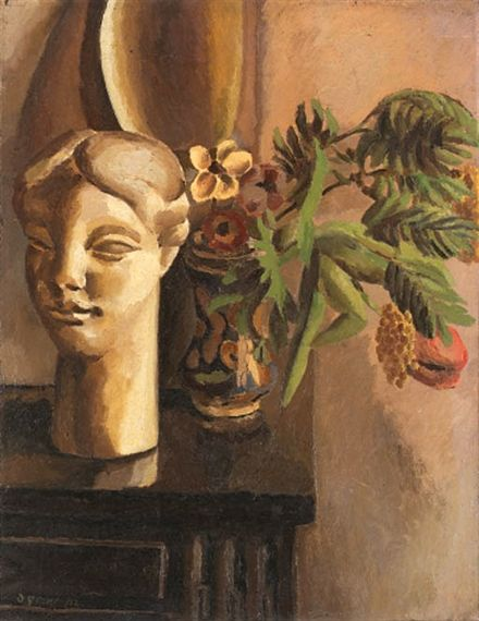 ✽ 'still life with classical head' - by duncan grant