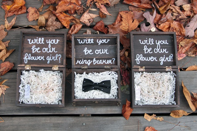 a way to ask your flower girls and ring bearer that they can keep and treasure for years after the wedding         @Savannah Hall Hall Kirsche