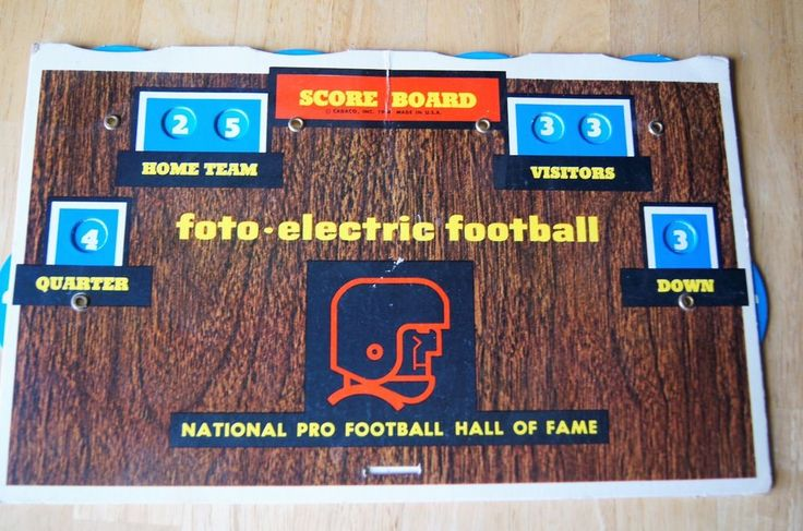 Vintage Cadaco Foto-Electric Football Score Board Only  #Cadaco