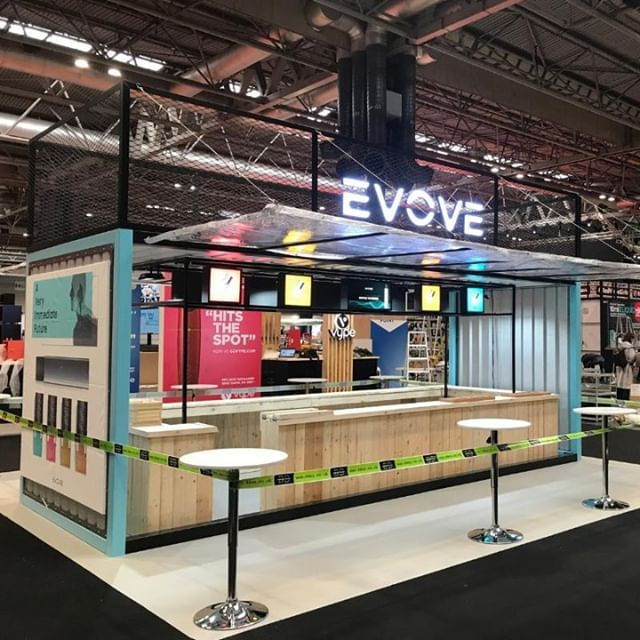 Expo Exhibition Stands Up : The light up sign on this stand for evove really made it stand out