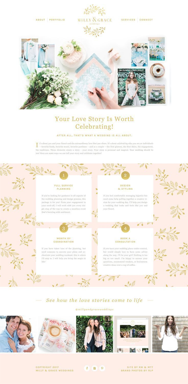Lovely feminine brand and website design design pinterest