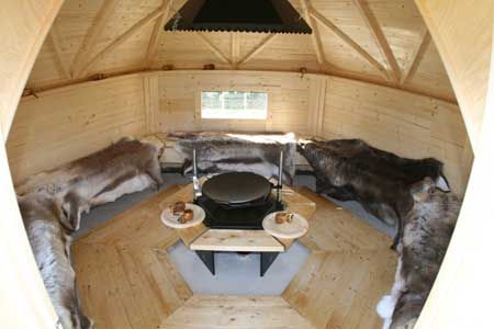 Interiror Of Bbq Hut Or House With Reindeer Hides Cabins Pinterest Bbq Hut Cabin And Hygge