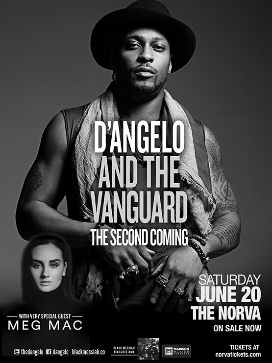 @megmacmusic gets to warm up the crowd for D'Angelo every night of his US tour.