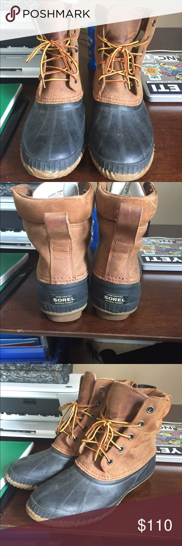 Men's Sorel duck boots Waterproof and insulated and in great condition. Only work twice Sorel Shoes Boots