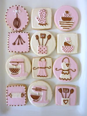 The Happy Caker: Kitchen Themed Bridal Shower Cookies