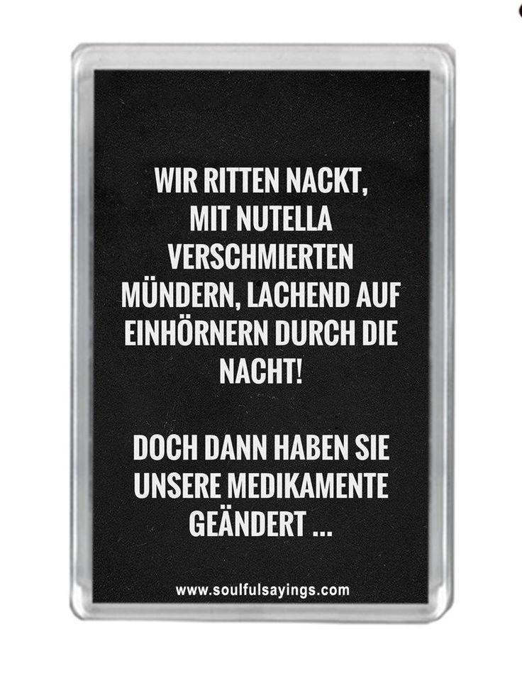 """Wir Ritten Nackt..."" Zitat Kühlschrankmagnet: Amazon.de: Küche & Haushalt"