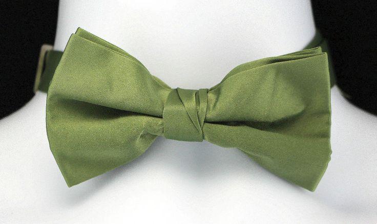 Olive Green Mens Bow Tie Adjustable Wedding Tuxedo Fashion Gift Him Bowtie New  #TiesJustForYou #BowTie