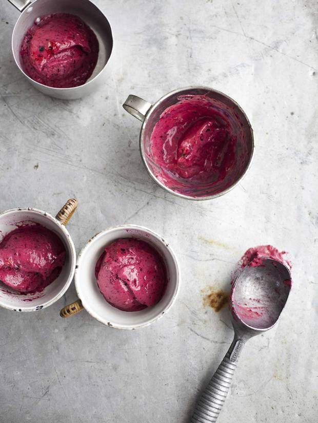 Frozen berry yoghurt - Recipes - Food & Drink - The Independent