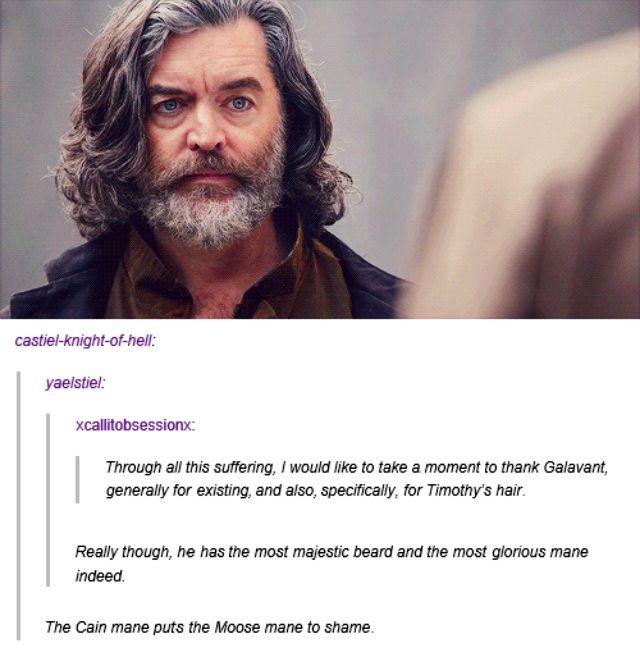 his hair is, definitely, glorious