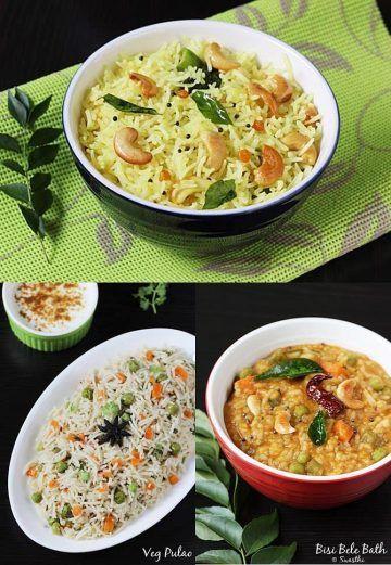 rice recipes swasthi