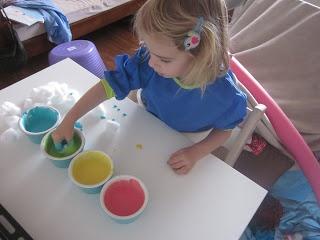 Colour & Bake cotton balls so much fun!