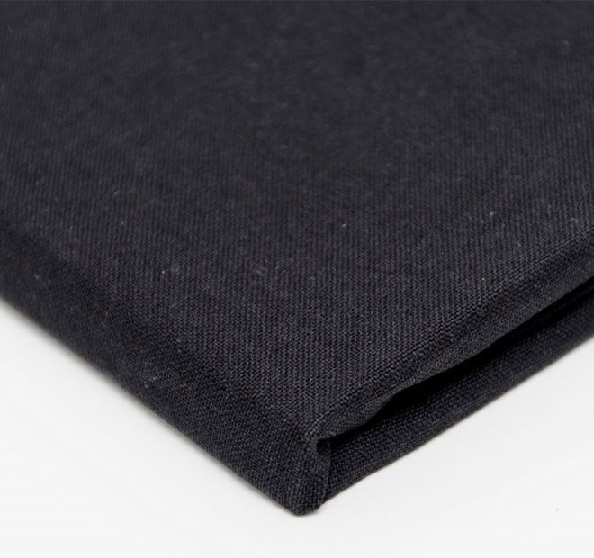"""Hoydu Veronica Tablecloth Priate Black.  These solid colour cotton table linens have been designed for both classic and contemporary living, and are the smart choice for casual or formal, indoor or outdoor dining.  Available in: 180cm (71"""") Round - 6 to 8 ppl. 180x180cm (71"""" x 71"""") Square - 6 to 8 ppl. 180x220cm (71"""" x 87"""") Oblong - 6 to 8 ppl. 180x260cm (71"""" x 103"""") Oblong - 8 to 10 ppl. 180x310cm (71"""" x 123"""") Oblong - 10 to 12 ppl. 180x400cm (71"""" x 157"""") Oblong - 12+ ppl."""
