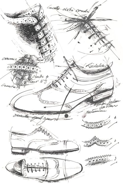Sketch shoes / Croquis chaussures