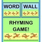 Make a WORD WALL with 20 WORD CARDS from the DOLCH NOUN LIST!  Add a RHYMING GROUP GAME that creates a 2-line Rhyme for each Word!  Your kids will figure out funny Rhymes, using the 20 RHYME CARDS that they will add to the WORD WALL.  Then make FOLDER GAMES for your Literacy Centers-- lots of suggestions included!  Big PHONEMIC AWARENESS and SIGHT WORD fun for Pre-K, K, and 1st grade.  (15 pages)  Make your learning MULTI-SENSORY with Joyful Noises Express TpT!  $