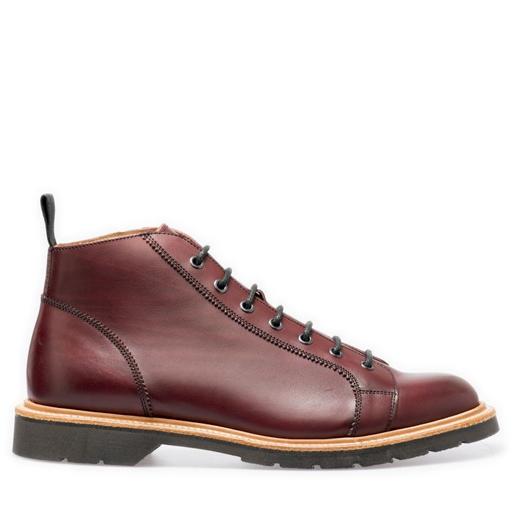 Burgundy monkey boot by Solovair. English-made in our factory in Wollaston…