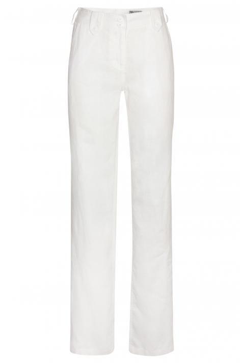 Vergroot - Witte linnen broek Lana