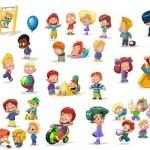 Caricaturas infantiles vectoriales